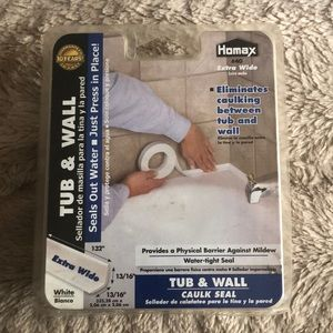 Homax tub & wall extra wide caulk seal